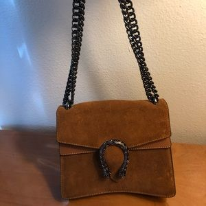 Tan Leather hang bag-Gucci lookalike